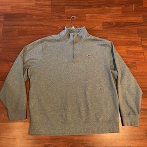 Vineyard Vines Gray Qtr Zip Sweater